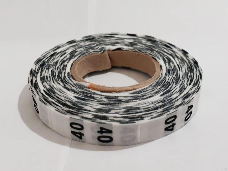 Etiqueta Tafetá Bordada - Rolo 20 metros - Numeração - (101 até 200 unid.)