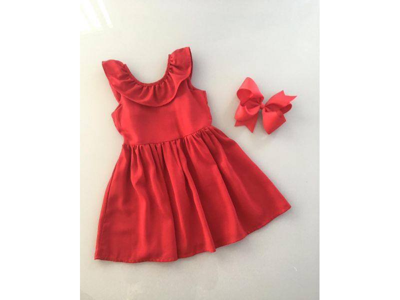 Vestido Vermelho - Recorte Costas