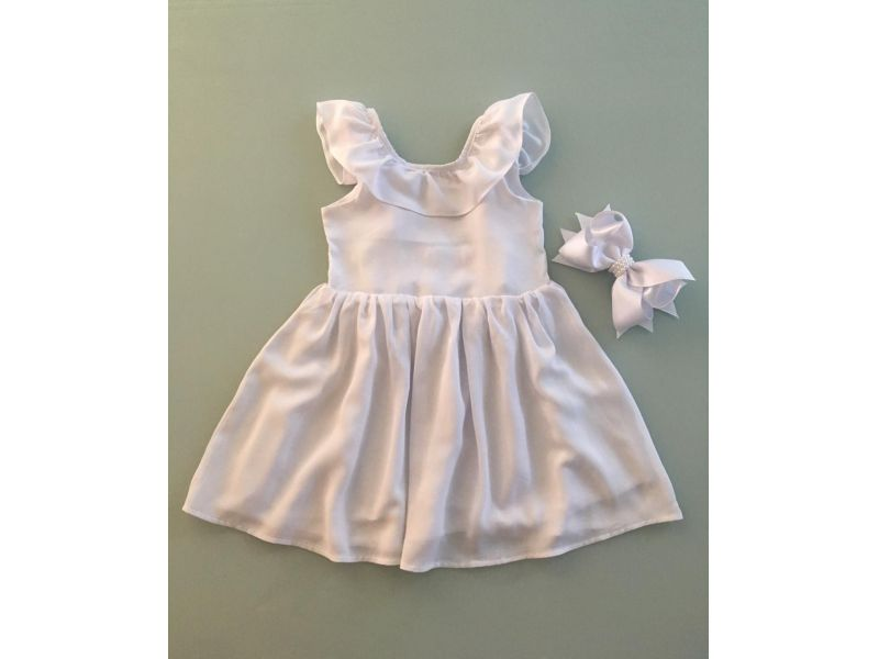 Vestido Branco - Recorte Costas