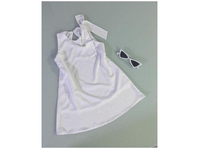 Vestido Branco - Com laço
