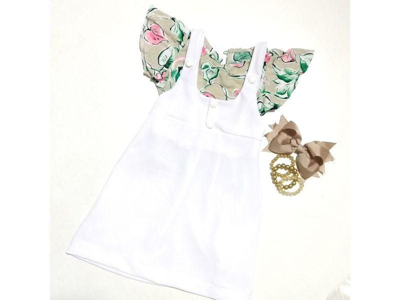 Salope com Blusa Estampada - Branco