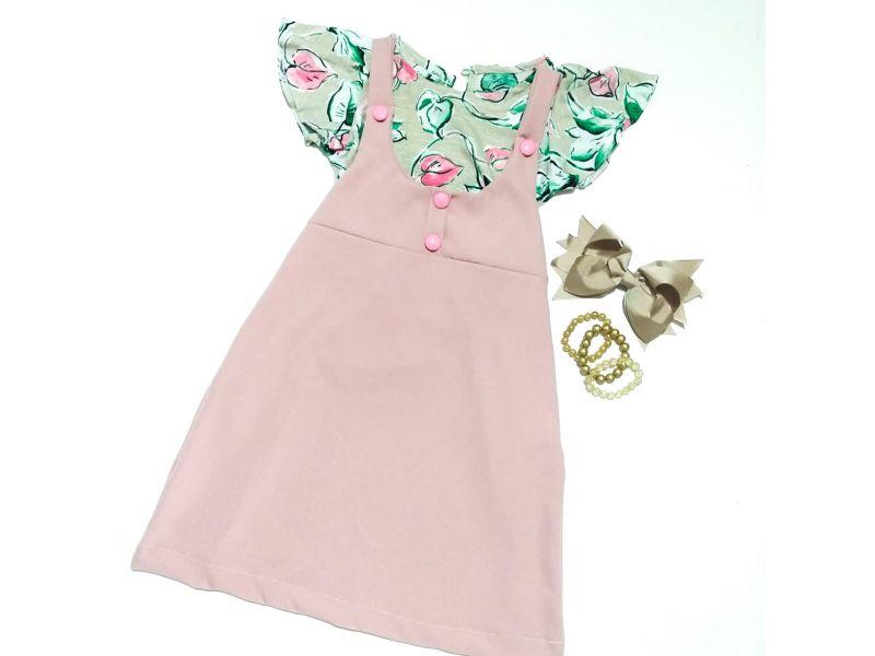 Salope com Blusa Estampada - Rosa