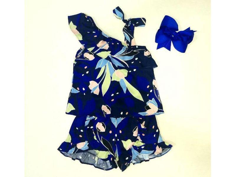Conjunto Azul Marinho - detalhe nas mangas